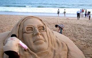 Песочные скульптуры индийского мастера