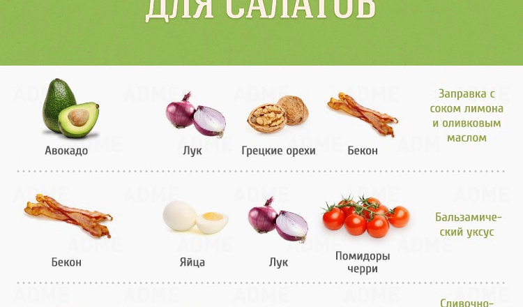 15 идеальных сочетаний для салатов