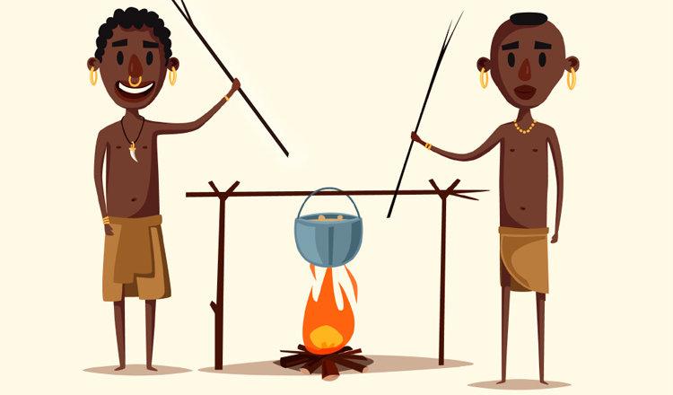 Анекдот «Как три туриста в плен к аборигенам попали»