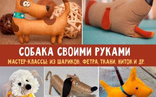 Поделки собачек из разных материалов