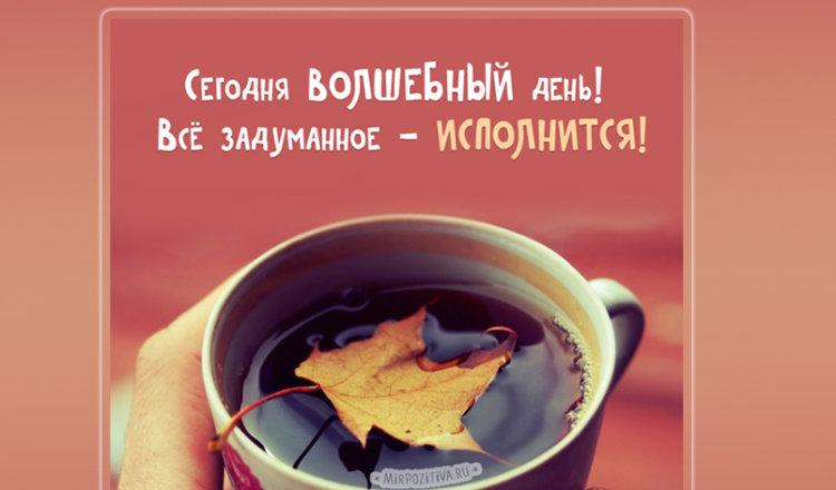 Душевные пожелания с Добрым осенним утром в картинках!