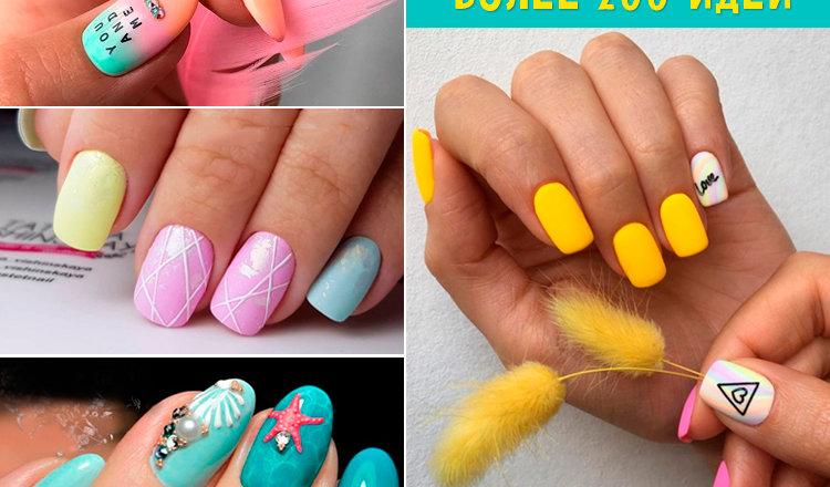 Фото красивого летнего дизайна ногтей: мода 2020 года