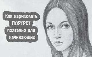 Учимся рисовать портрет любого человека карандашом: пошаговые инструкции
