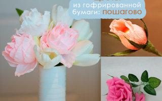 Делаем гофрированные цветы своими руками: пошаговые инструкции