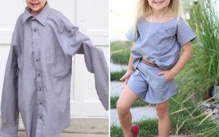 Удивительные наряды из старых рубашек (10 фото)