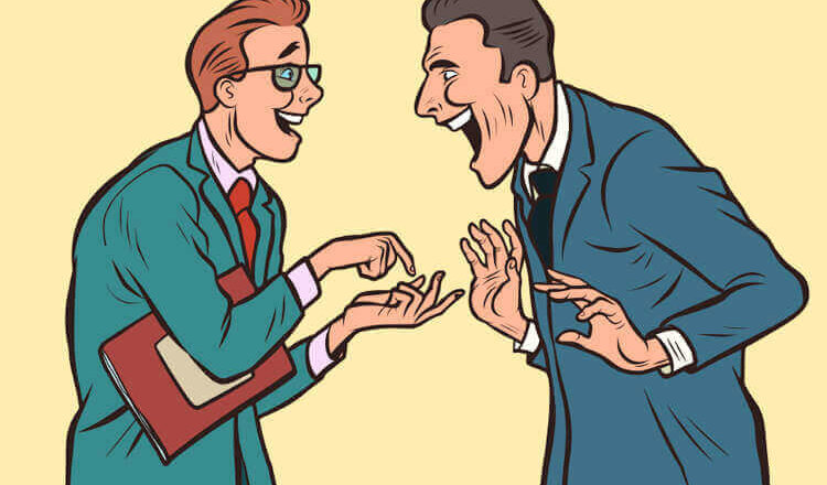 Анекдот «Встреча двух одноклассников»