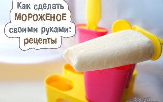 Готовим вкусное мороженое своими руками в домашних условиях