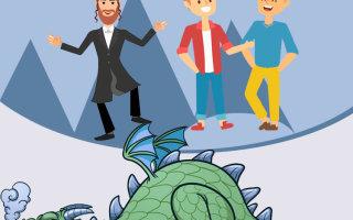 Анекдот как русский, украинец и еврей в логове дракона оказались