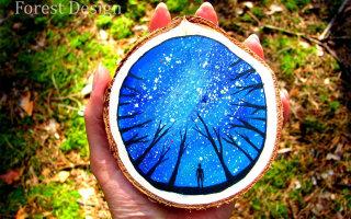 Сказочно красивые рисунки на дереве (33 фото)