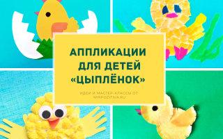 Делаем аппликацию Цыпленок вместе с детьми