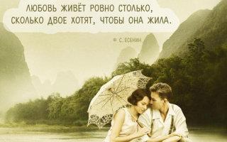 Красивые и легкие цитаты Сергея Есенина о любви и жизни