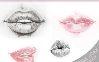 Как легко и красиво рисовать губы карандашом: пошаговые инструкции
