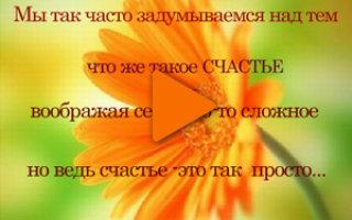 Флеш-ролик «Счастье — это просто»