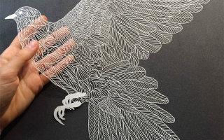 Фото «Изящные произведения из бумаги, вырезанные вручную»