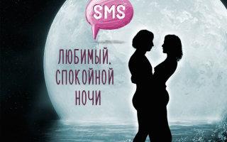 Красивая подборка смс с пожеланиями любимому спокойной ночи
