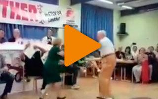Видео «Старички зажигательно танцуют»