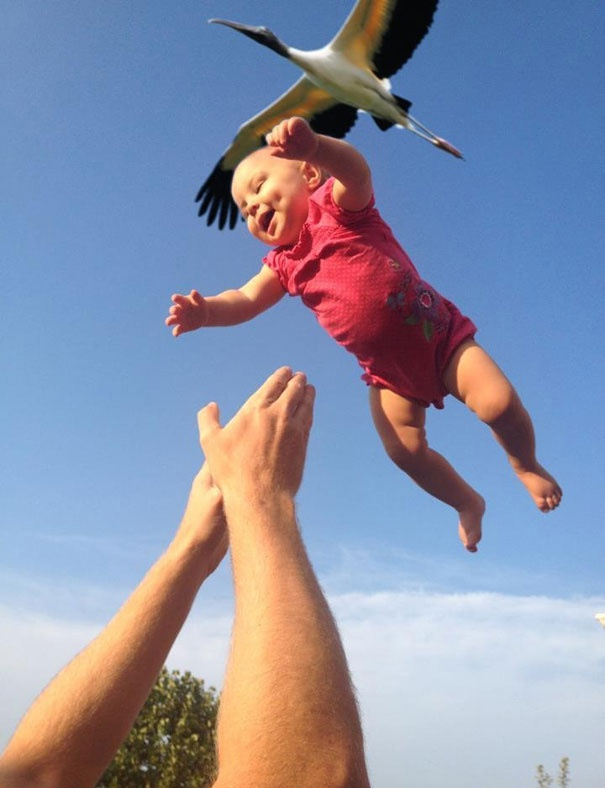 ребенка принес аист