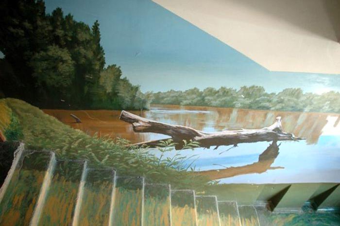 роспись на стенах подъезда
