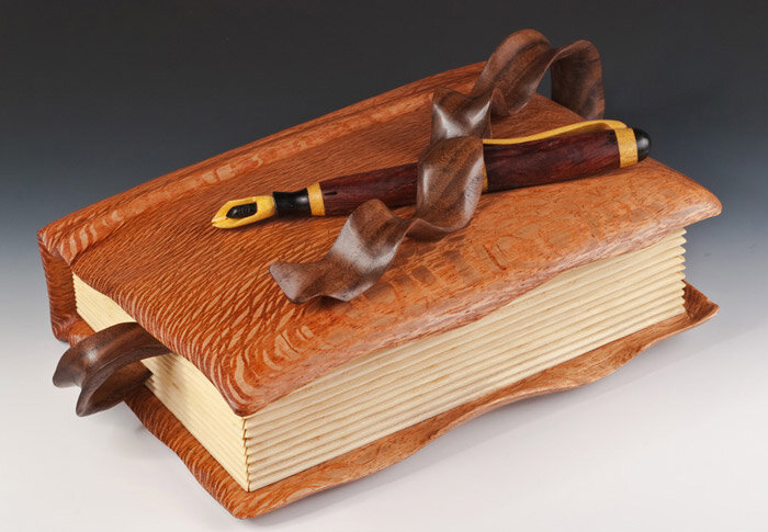 записная книга из дерева