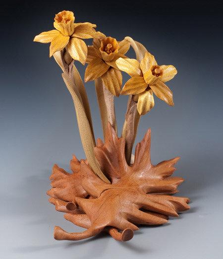 цветы из дерева