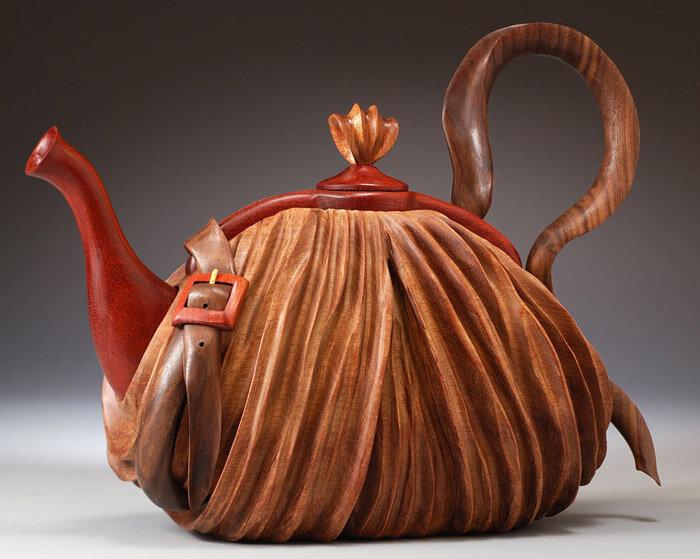 чайник - сумка из дерева
