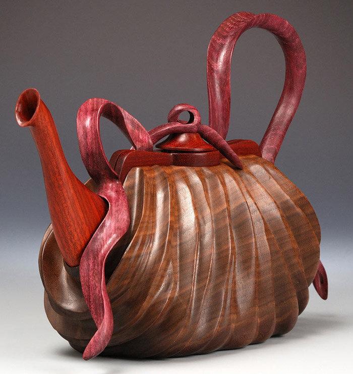 сумка-чайник из дерева