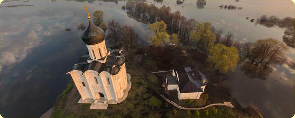 Церковь Покрова на Нерли, разлив рек Клязьма и Нерль