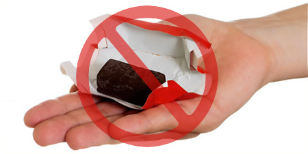 конфеты нельзя