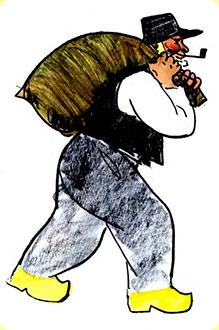 крестьянин с мешком