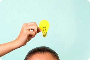 лампочка над головой, идея
