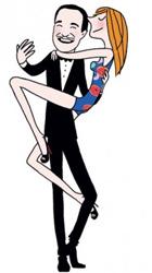 мужчина держит на руках женщину