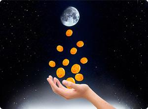 луна и монеты