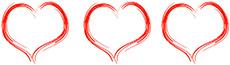 3 сердца