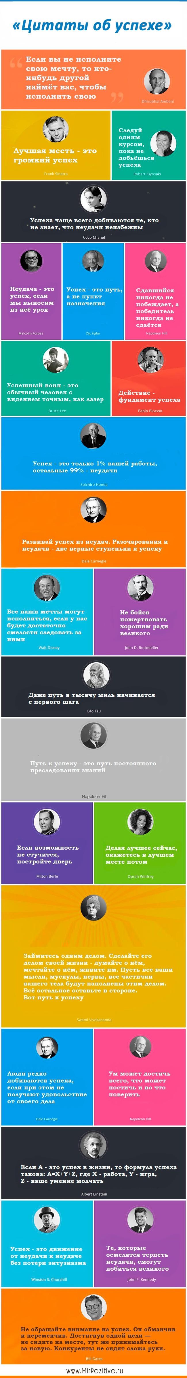 цитаты известных людей об успехе