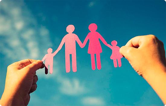 полноценная семья из бумаги