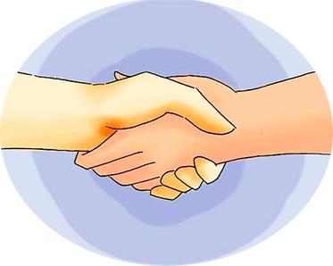 пожать руки и договориться