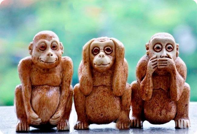 3 игрушечные обезьяны