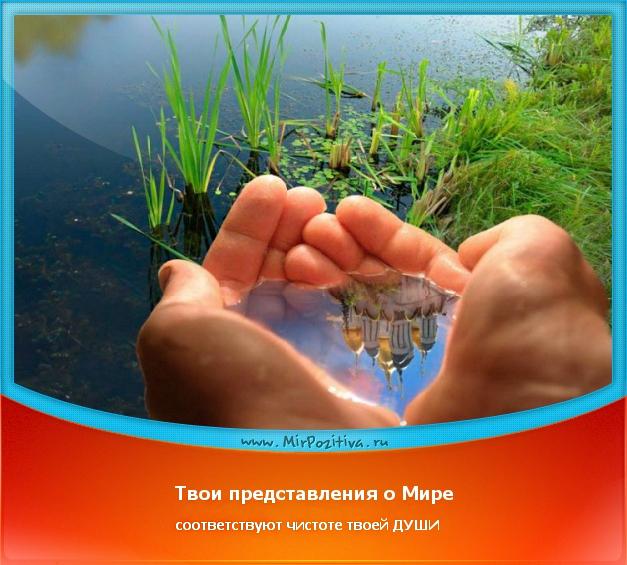 позитивчик дня: Твои представления о мире соответствуют чистоте твоей души