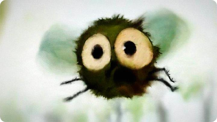 муха нарисованная