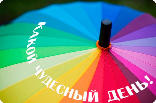 зонт с надписью Какой чудесный день
