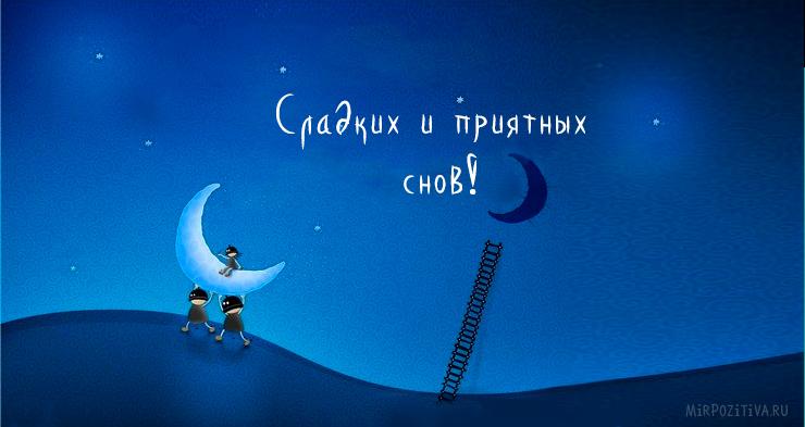 Сладких и приятных снов!