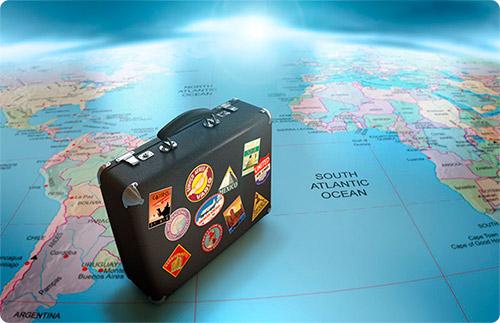 путешествие, чемодан