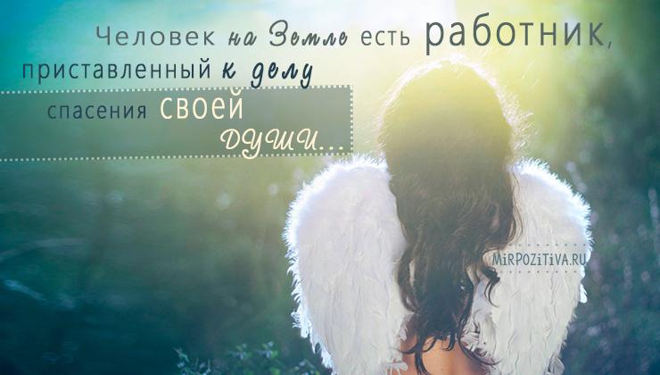 Человек на земле есть работник, приставленный к делу спасения своей души Лев Николаевич Толстой