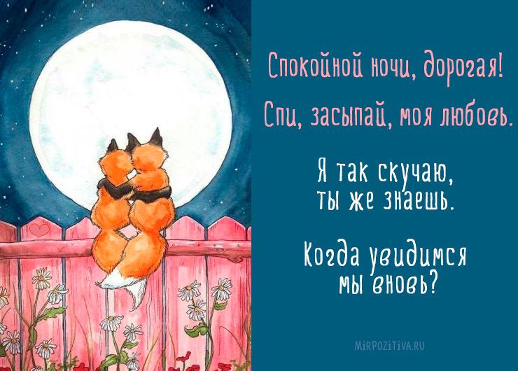 Спокойной ночи, дорогая! Спи, засыпай, моя любовь. Я так скучаю, ты же знаешь. Когда увидимся мы вновь?