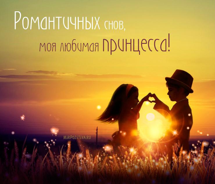 Романтичных снов, моя любимая принцесса!