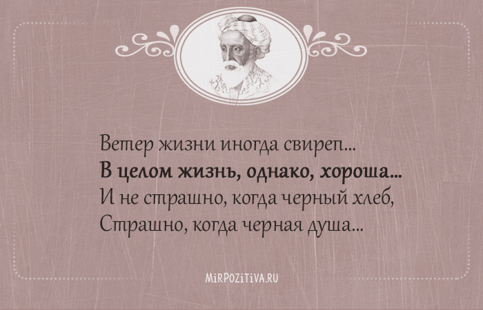 Ветер жизни иногда свиреп В целом жизнь, однако, хороша…