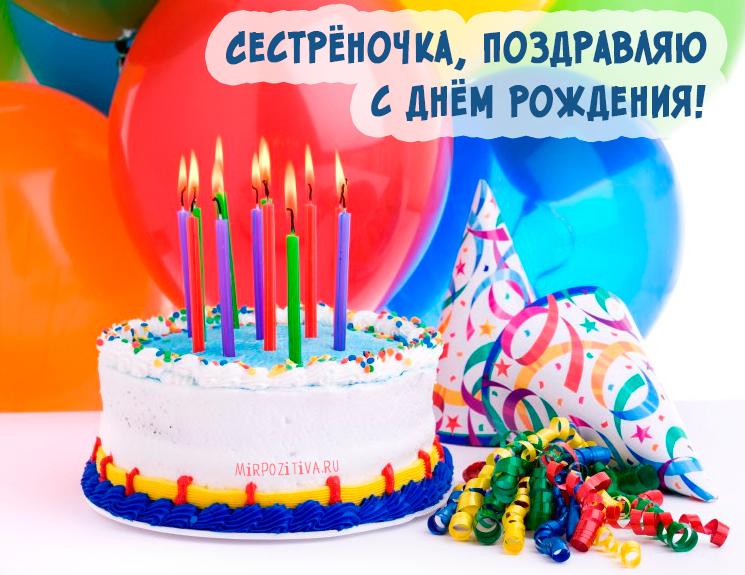 торт со свечами на день рождения