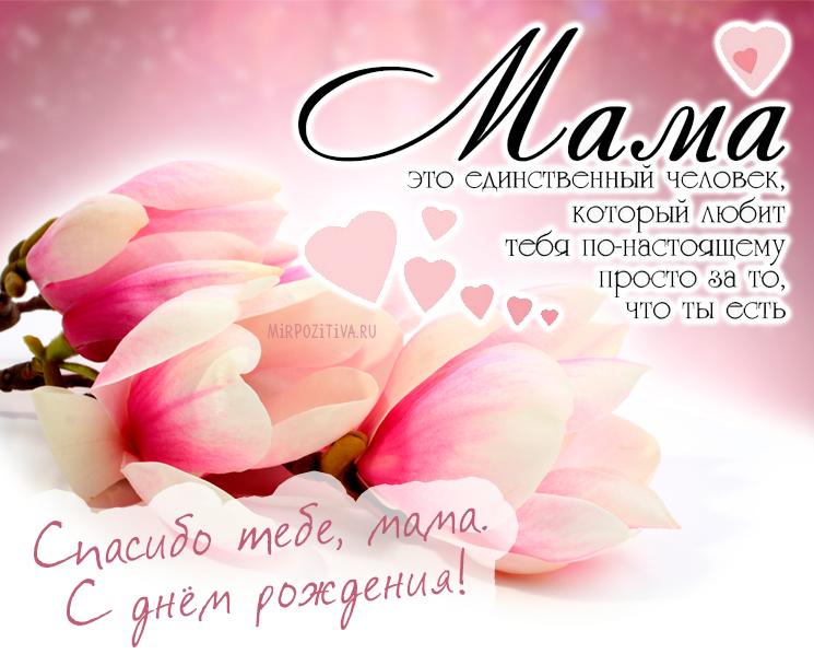 Спасибо тебе, мама. С днём рождения!