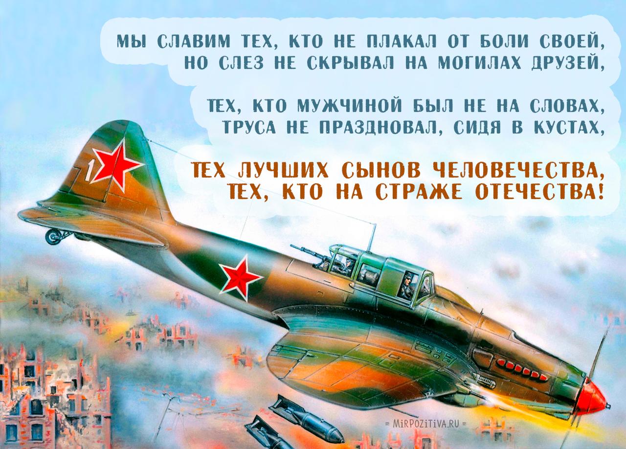 самолет поздравление с днем защитника отечества