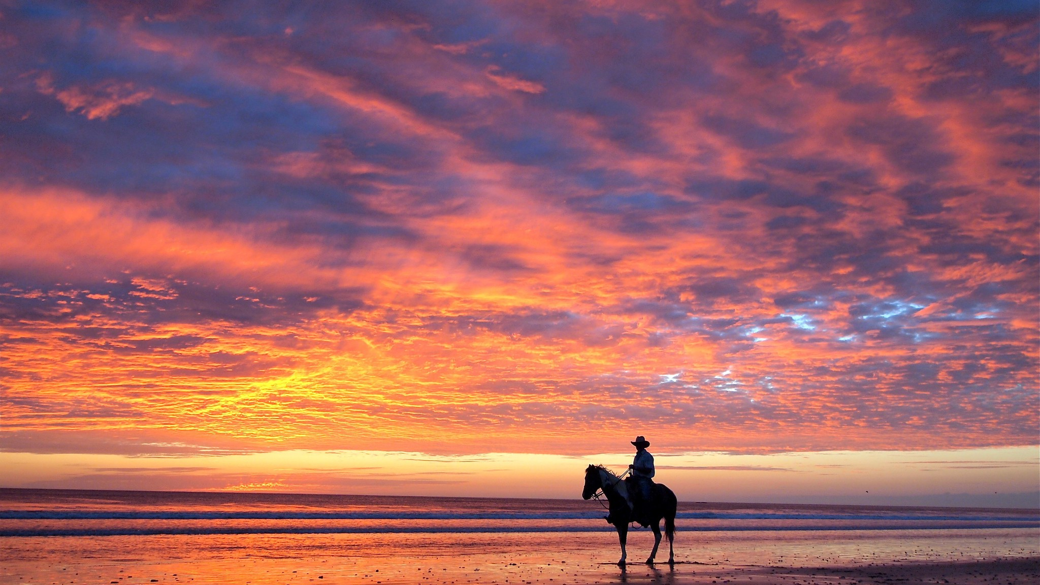 ковбой при закате
